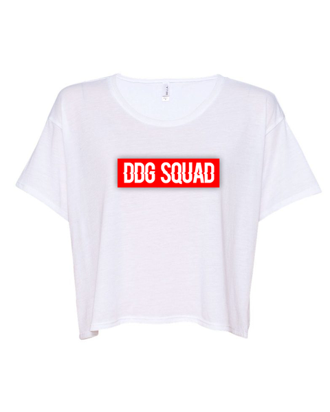 DDG Squad White Crop Top
