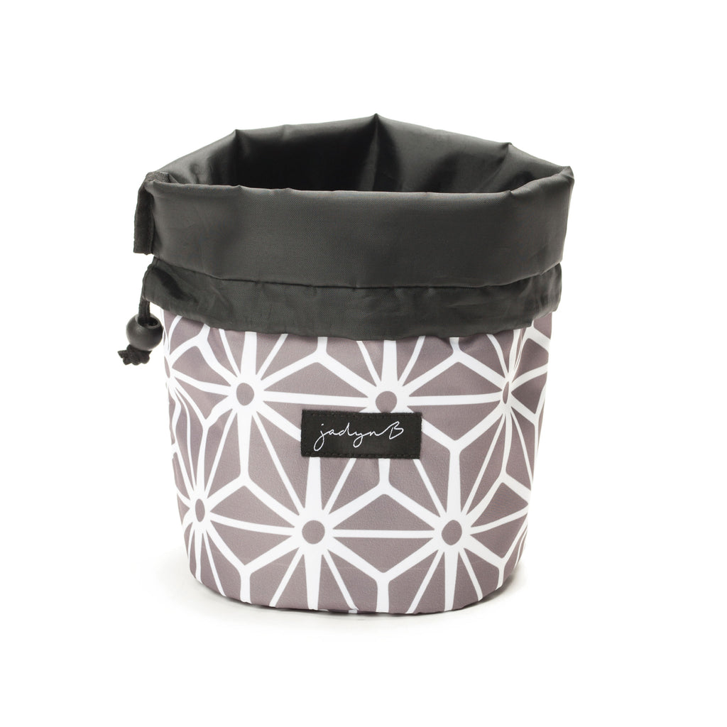 Cosmetic Cinch Bag - Geometric Gray