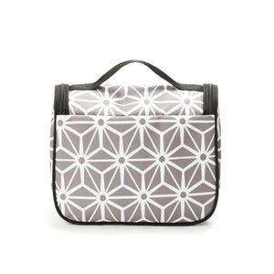 Hanging Toiletry Bag - Geometric Gray
