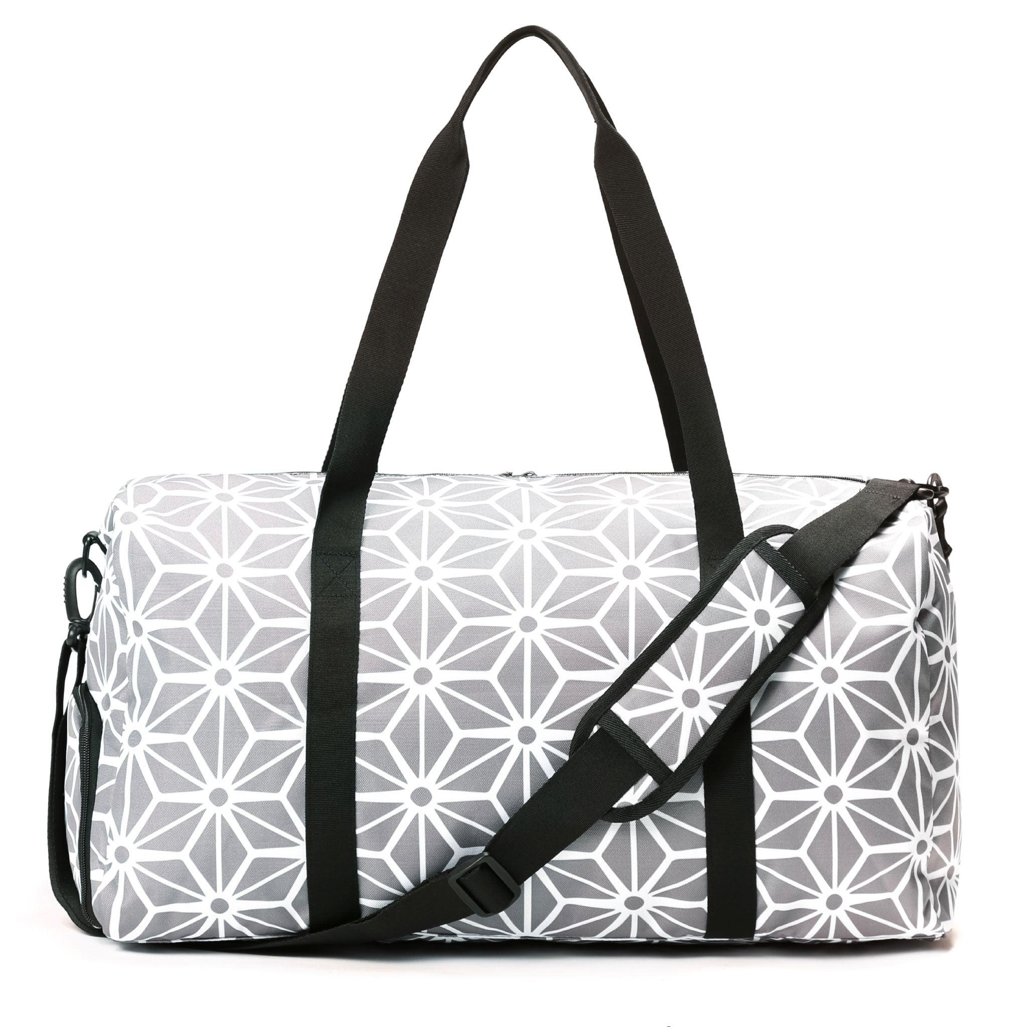 Weekender Duffel Bag - Geometric Gray