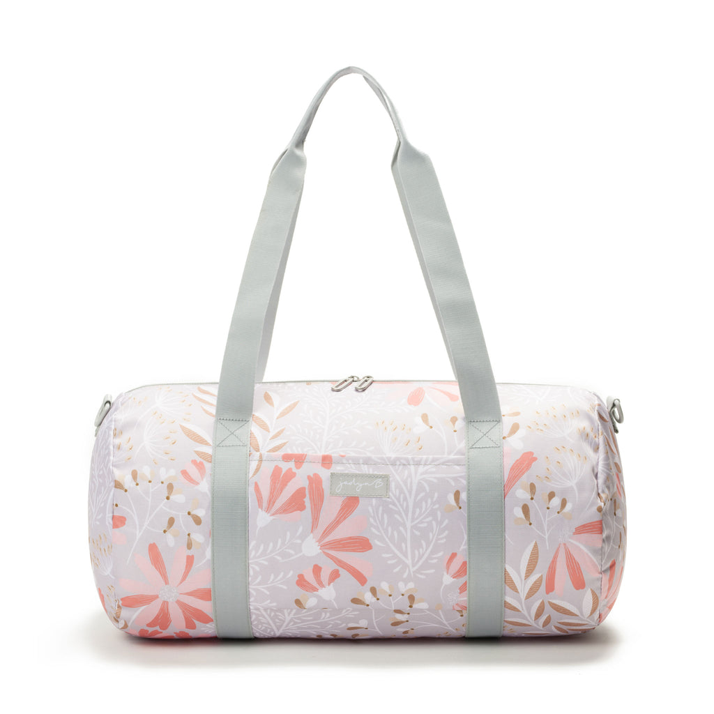 Barrel Duffle - Gray Floral