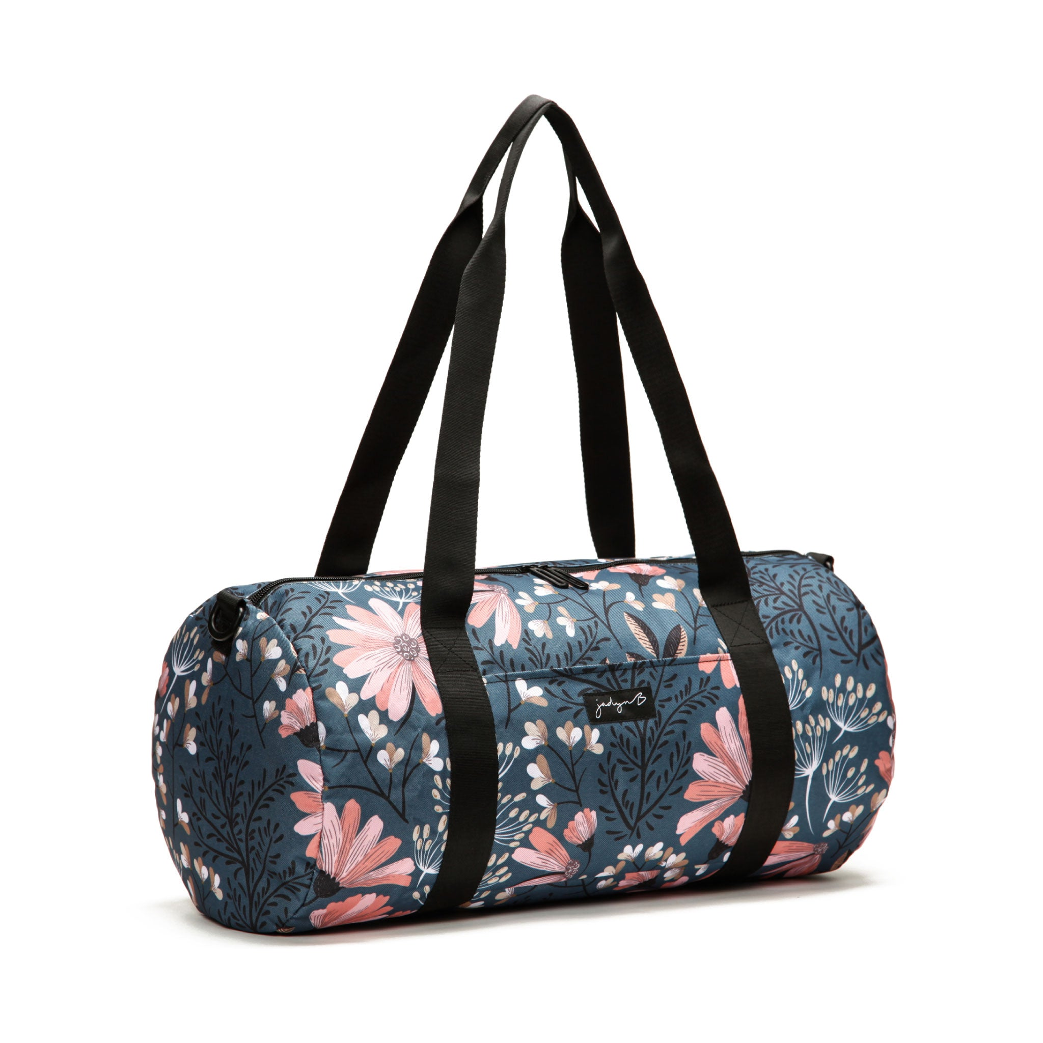 Barrel Duffle - Navy Floral