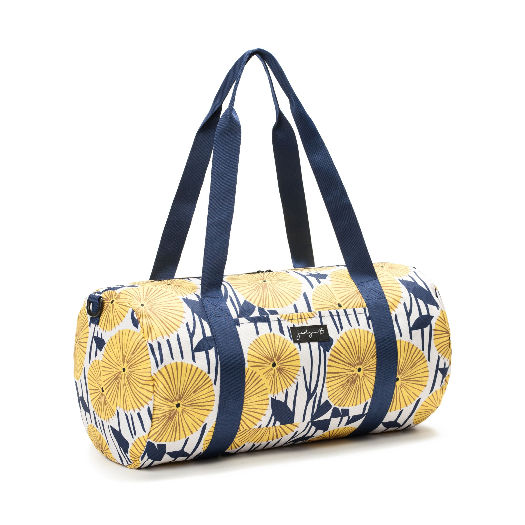 Barrel Duffle - Yellow Flowers