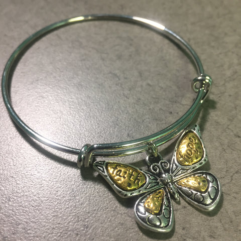 Faith & Hope Butterfly Bangle