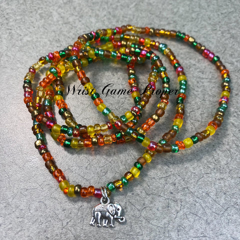 Lucky Elephant Waist Bead Set