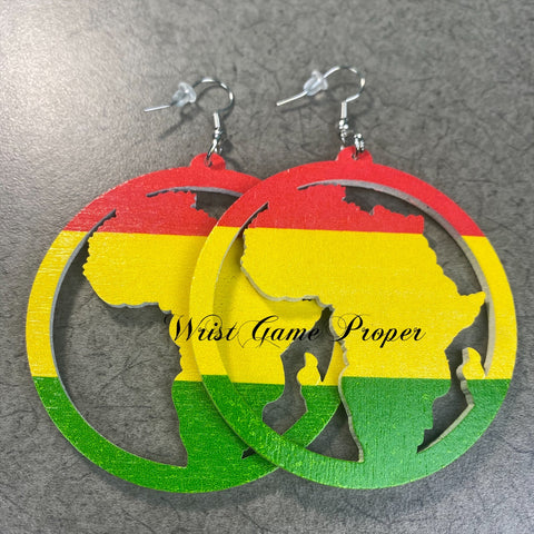 Africa in Color Block Earrings