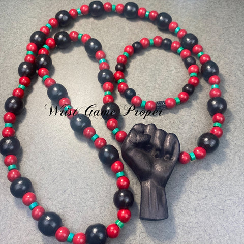 To The Black Man Necklace Set