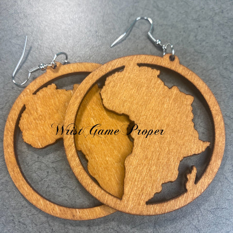 Africa in Brown Earrings