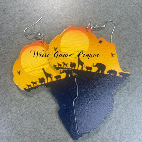 Oh African Earrings_Sunset