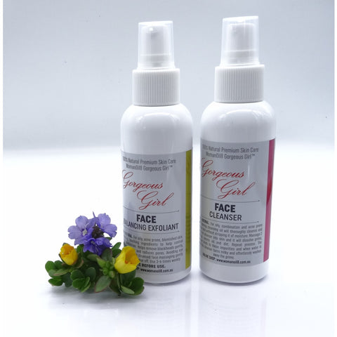 GG12 - Gorgeous Girl Face Cleanser and Face Balancing Exfoliant 120mls