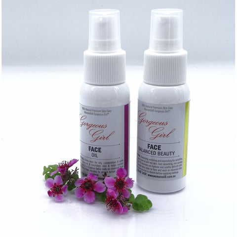 Gorgeous Girl Face and Balanced Beauty Face Oils 48mls
