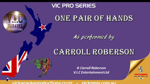 VICPS034 - Carroll Roberson - One Pair of Hands - Karaoke Bars & Productions Auckland