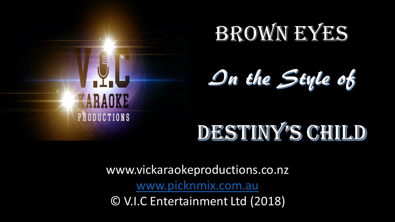Destiny's Child - Brown Eyes - Karaoke Bars & Productions Auckland