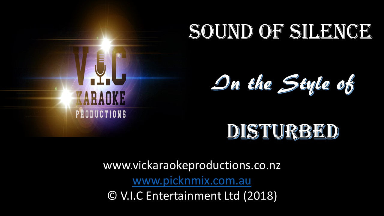Disturbed - Sound of Silence - Karaoke Bars & Productions Auckland