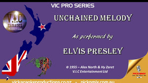 VICPSELVIS003 - Elvis Presley - Unchained Melody - Pro Series - Karaoke Bars & Productions Auckland