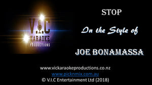Joe Bonamassa - Stop - Karaoke Bars & Productions Auckland