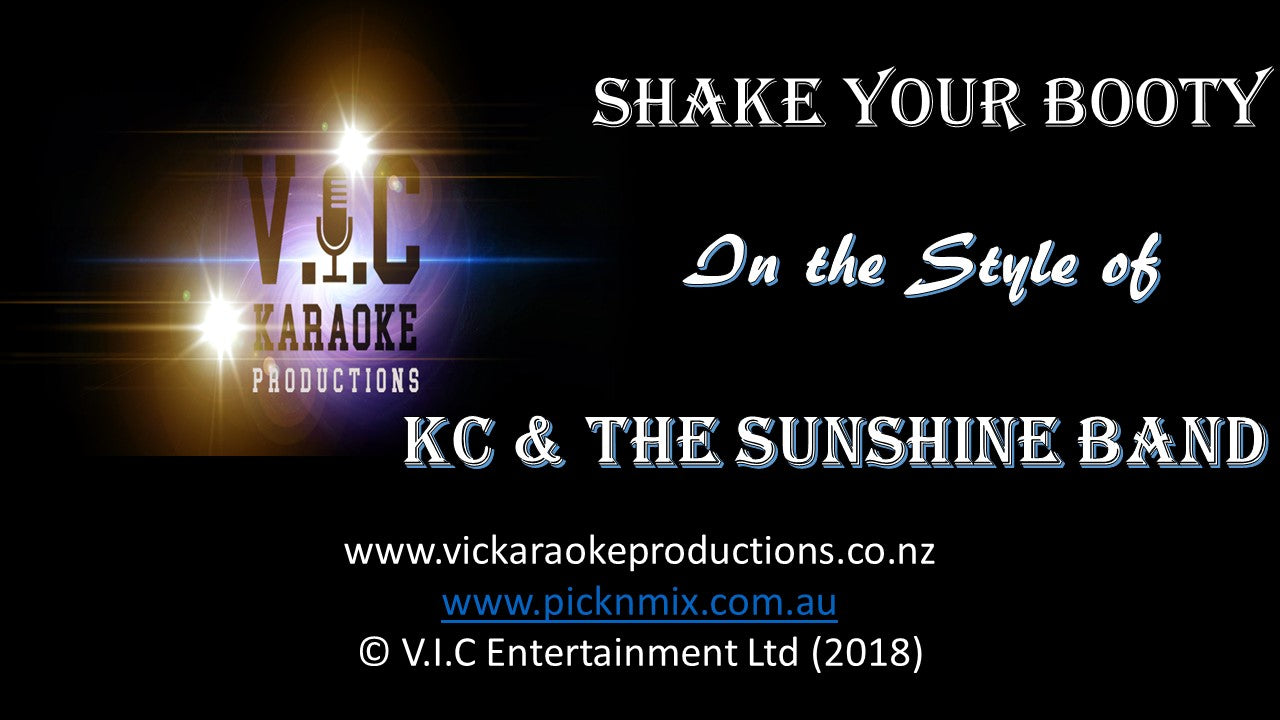 KC & The Sunshine Band - Shake your Booty - Karaoke Bars & Productions Auckland