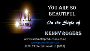 Kenny Rogers - You are so Beautiful - Karaoke Bars & Productions Auckland