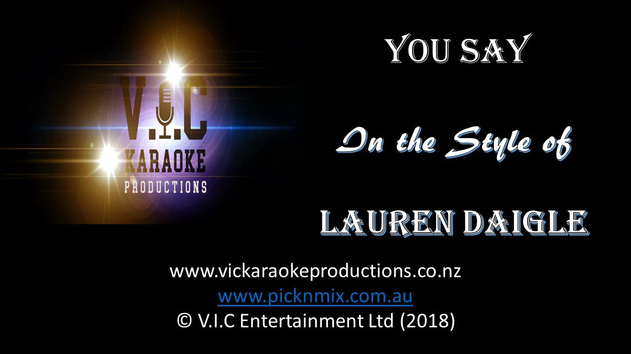 Lauren Daigle - You Say - Karaoke Bars & Productions Auckland