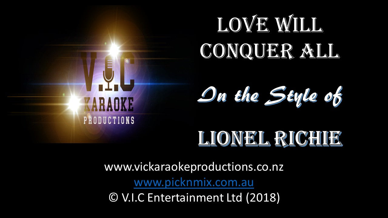 Lionel Richie - Love will conquer all - Karaoke Bars & Productions Auckland