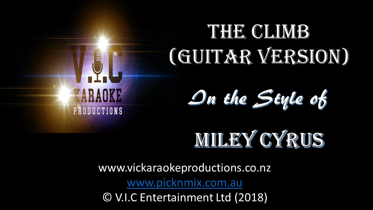 Miley Cyrus - The Climb (Guitar Version)