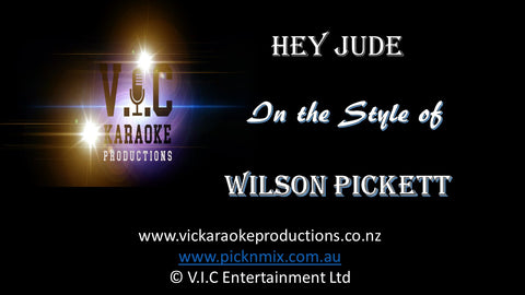 Wilson Pickett - Hey Jude - Karaoke Bars & Productions Auckland