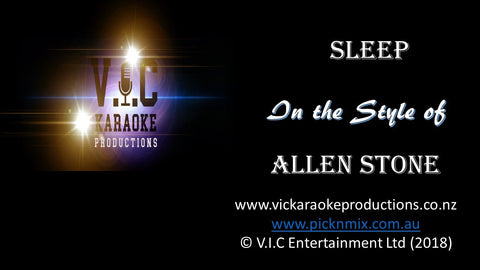 Allen Stone - Sleep - Karaoke Bars & Productions Auckland