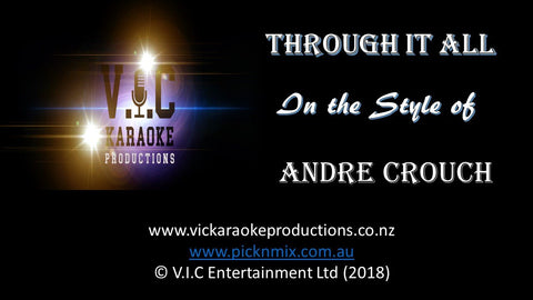 Andre Crouch - Through it all - Karaoke Bars & Productions Auckland