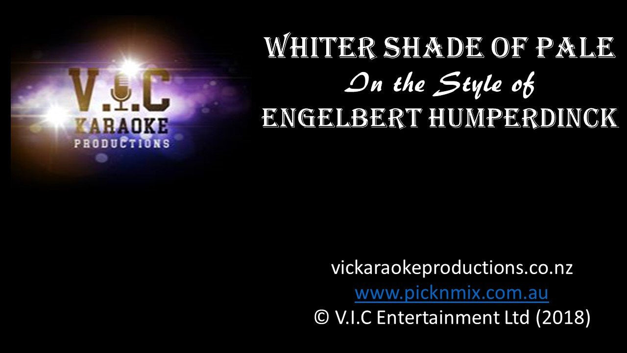 Engelbert Humperdinck - A Whiter Shade of Pale - Karaoke Bars & Productions Auckland