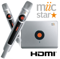 Miic Star MS-62 (Unit Only) includes 2 Microphones - Includes 800 V.I.C Karaoke Productions songs - Karaoke Bars & Productions Auckland