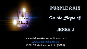 Jesse J - Purple Rain - Karaoke Bars & Productions Auckland