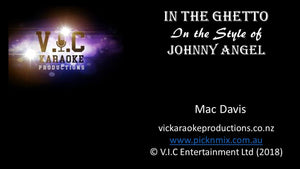 Johnny Angel - In the Ghetto - Karaoke Bars & Productions Auckland