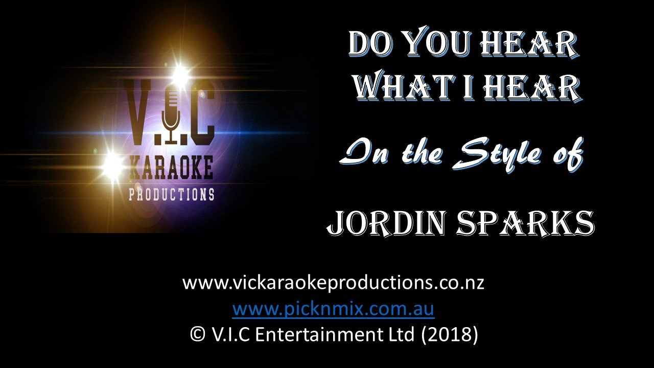 Jordin Sparks - Do you hear what I hear - Karaoke Bars & Productions Auckland