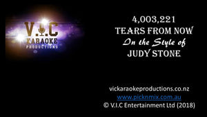 Judy Stone - 4003221 Tears for Now - Karaoke Bars & Productions Auckland
