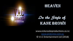 Kane Brown - Heaven - Karaoke Bars & Productions Auckland