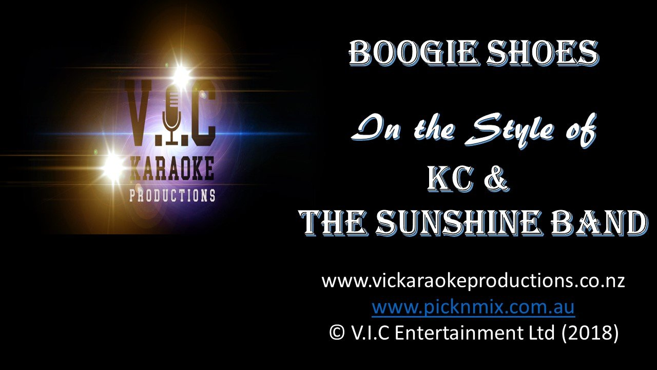 KC & The Sunshine Band - Boogie Shoes - Karaoke Bars & Productions Auckland