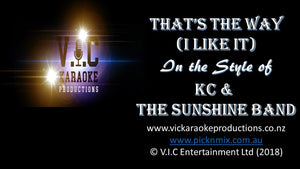 KC & The Sunshine Band - That's the Way (I Like It) - Karaoke Bars & Productions Auckland