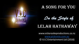 Lelah Hathaway - A Song for you - Karaoke Bars & Productions Auckland