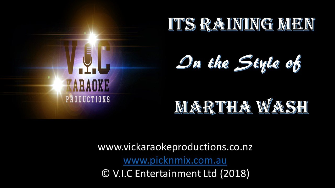 Martha Wash - It's Raining Men - Karaoke Bars & Productions Auckland