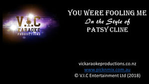 Patsy Cline - You were Fooling - Karaoke Bars & Productions Auckland