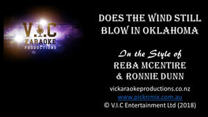 Reba McEntire & Ronnie Dunn - Does the Wind Still Blow in Oklahoma - Karaoke Bars & Productions Auckland