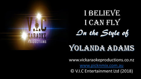 Yolanda Adams - I Believe I can Fly - Karaoke Bars & Productions Auckland