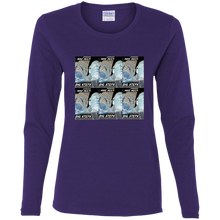 """Big Steps"" - G540L Ladies' Cotton LS T-Shirt"