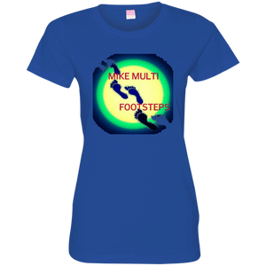 """Footsteps"" - 3516 Ladies' Fine Jersey T-Shirt"