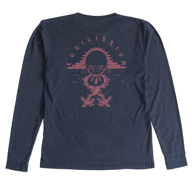 MELTED PALMS LONG SLEEVE T-SHIRT