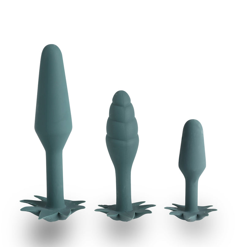 Doobies POT Leaf Anal Trainer Silicone Set - 3 Sizes (Pre-Order Only)
