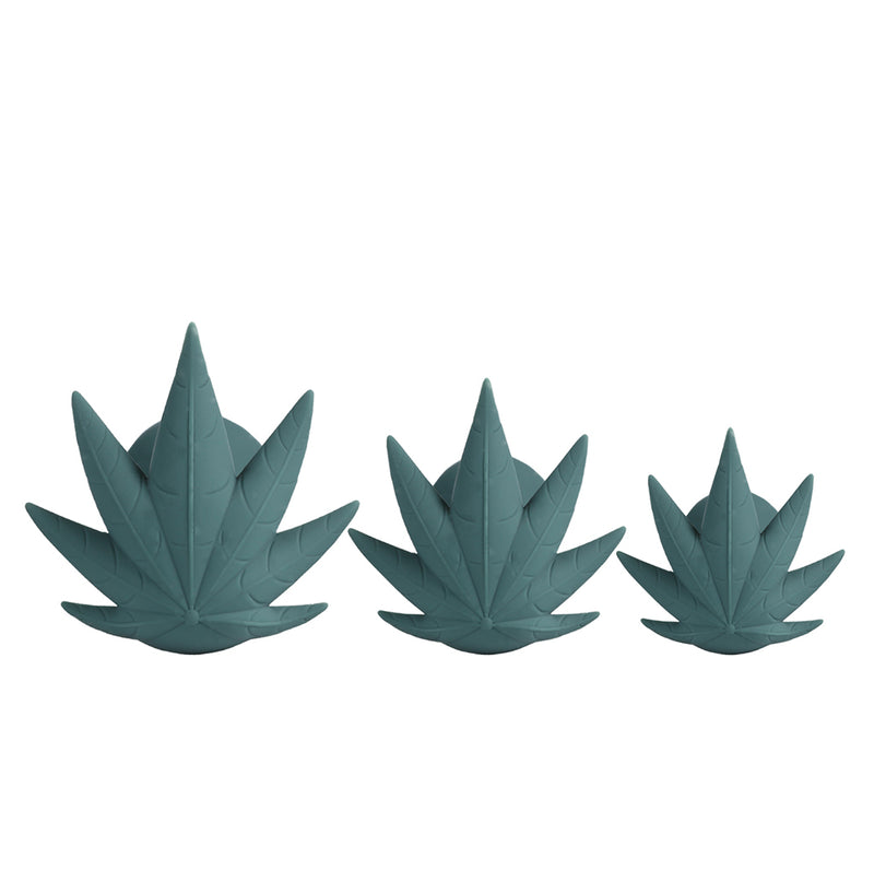 Doobies POT Leaf Anal Trainer Silicone Set - 3 Sizes