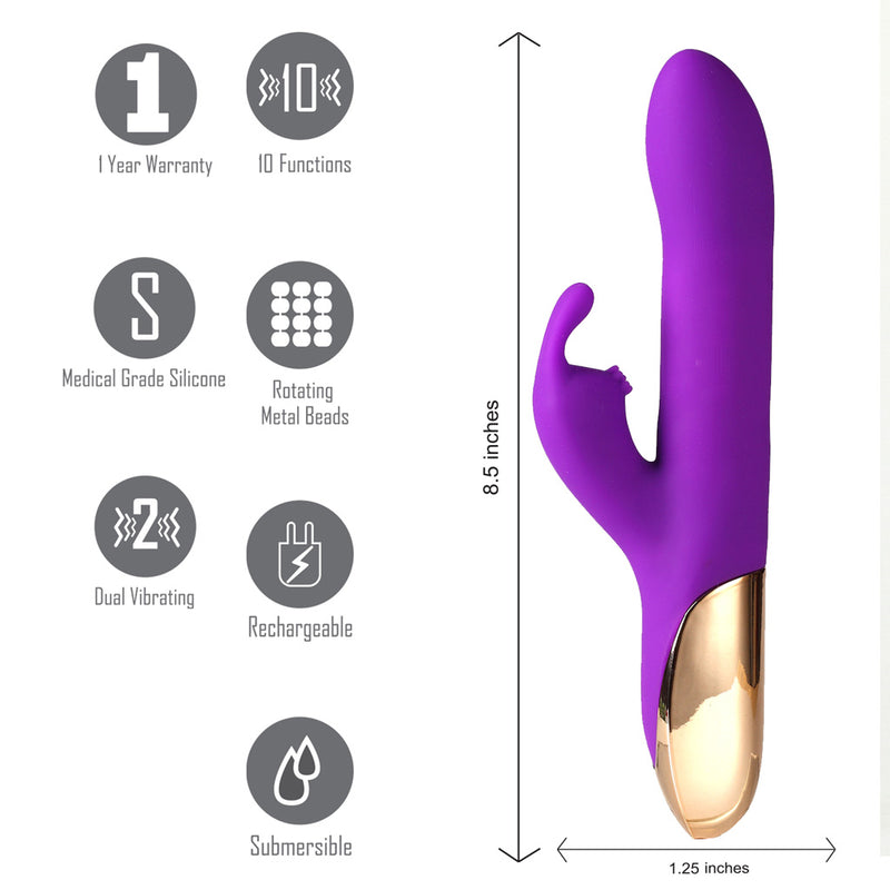 Karlin USB Rechargeable 10/4 Function Rabbit Vibrator