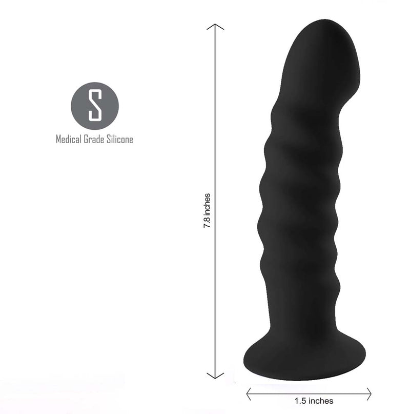 KENDALL Silicone Dong Swirled Satin Finish - BLACK (Pre-Order Only)