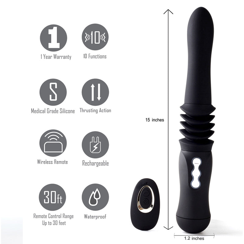 MAX USB Rechargable Silicone Thrusting Portable Love Machine